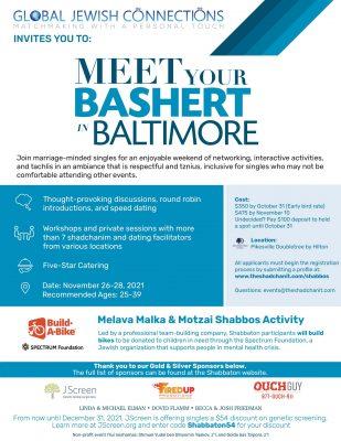 Updated Baltimore Shabbaton Flyer